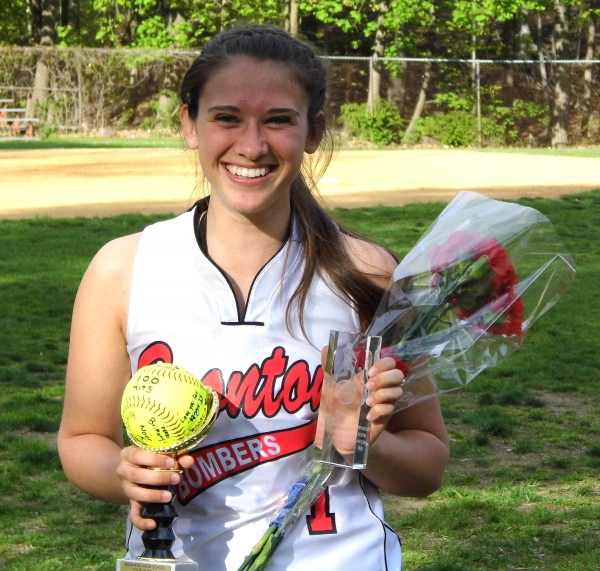 Boonton junior Anna Lee Smith got her 100th career hit versus Kinnelon on Tuesday, April 30.