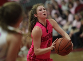 High Point's Darby Smith gets set to take a free throw late in the Pretty In Pink Classic.