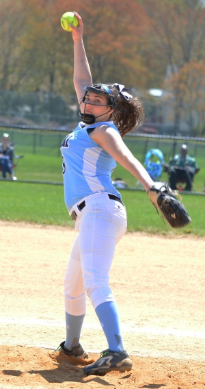 Jamie Fesinstine of West Morris recorded 15 strikeouts.