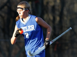 Butler's Amber Haslett had 27 goals this season and set a school record.
