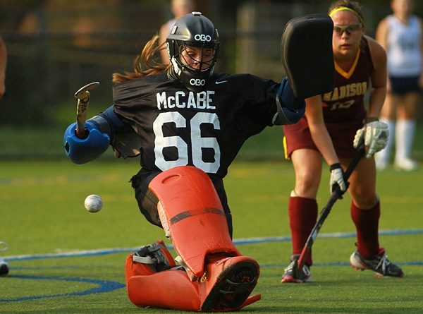 Madison goalie Caroline McCabe makes a save against Chatham.