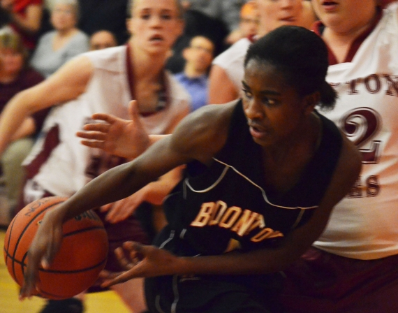 Freshman Cyndia Green has been a key player for Boonton this season.